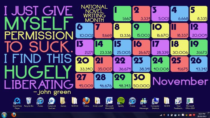 NaNoWriMo Desktop